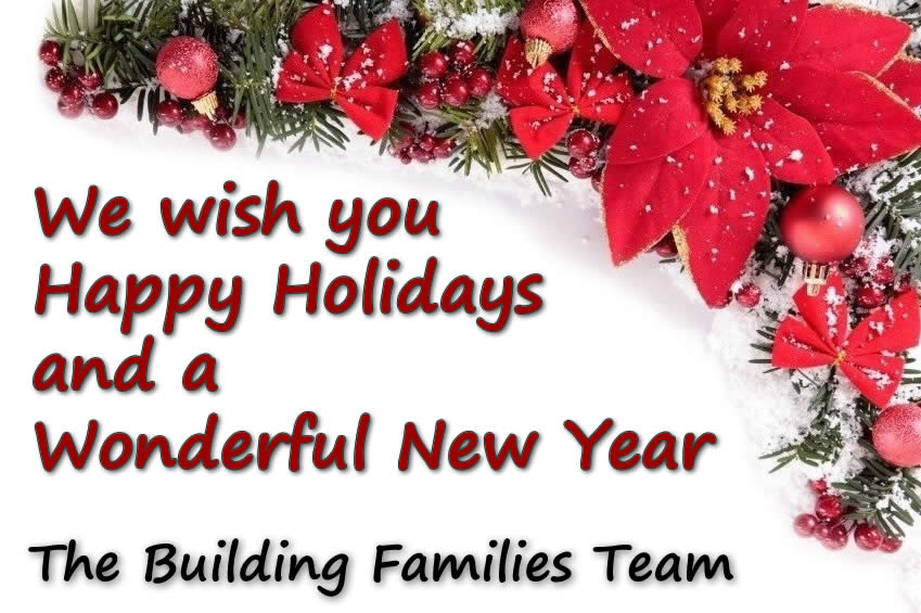 happy holidays and a wonderful new year building families inc