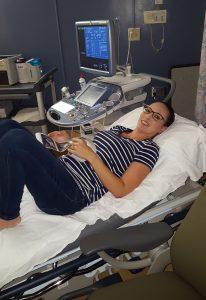 Melissa está en el ecuador de su embarazo