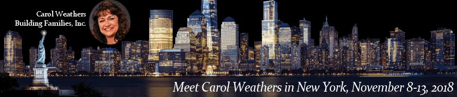 Meet Carol Weathers in New York Nov 8 thru 13, 2018